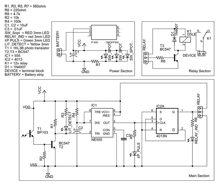 Laser Controlled Device circuit diagram
