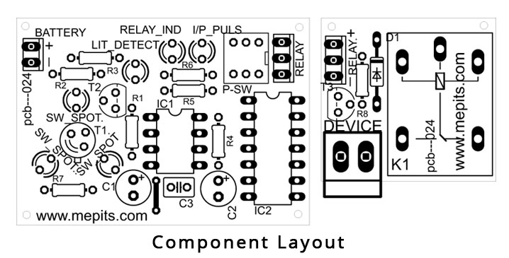 Laser Controlled Device Component layout