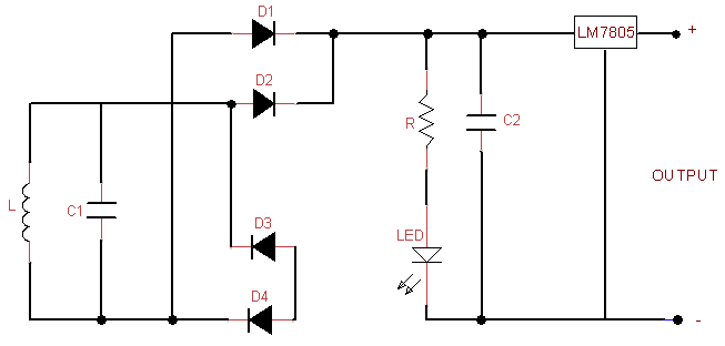 Receiver section circuit of wireless charger