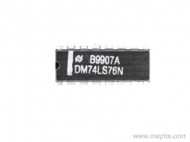 74LS76 Dual J-K Flip-Flop IC with Set and Clear