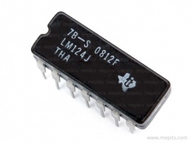 LM124J Quad Operational Amplifier IC