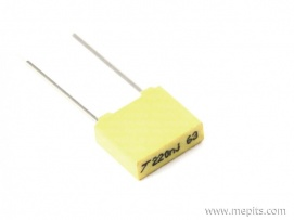 220nf 63V 5mm Pitch Box Capacitor