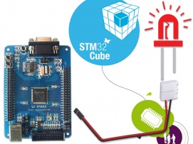 How to interface LED with ARM (STM32F103VBT6)